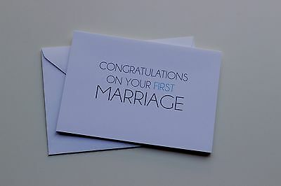Congrats on Your First Marriage Wedding Greeting Card Made in the USA