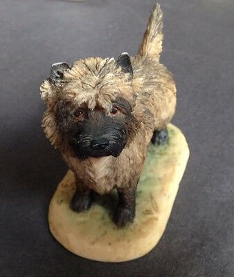 A Lovely Border Arts Cairn Terrier Signed Ayres TW Minor Damage To One Ear