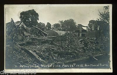 Sussex  HORSHAM  Debris of the Tannery Fire in 1912  RP