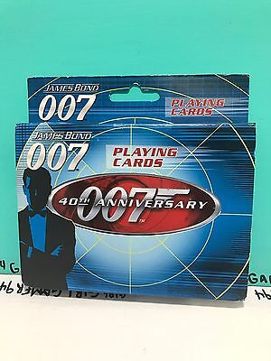 2007 James Bond 007 Double Deck Playing Cards - 40th Anniversary W Special Tin.