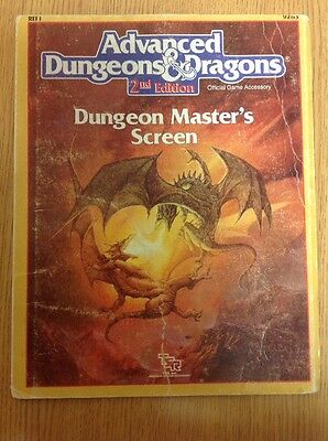 Advanced Dungeons and Dragons 2nd edition Dungeon Master's Screen