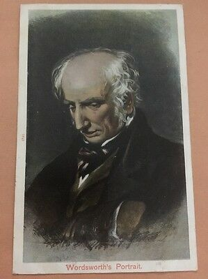 Portrait of Wordsworth. Ulverstone postmark 1906 By Peacock Brand