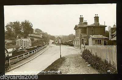 Sussex  WADHURST  RAILWAY STATION Exterior and Hotel         RP