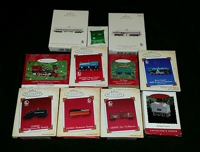 Hallmark Keepsake Lionel Train Ornaments Lot of 11 Engine Tender Boxcar