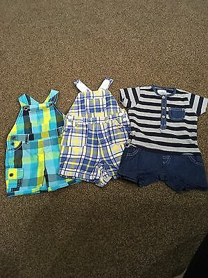 Baby Boys Bundle 3/6mths  Summer Shorts Play suits
