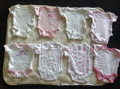 Newborn Baby Girl First Size Bundle Vests Clothes Approx 7-8 lbs Pink