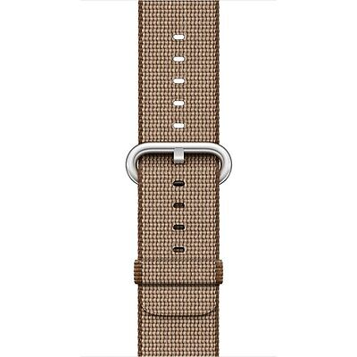 Apple - Woven Nylon for Apple Watch 38mm - Toasted Coffee/Caramel MNK42AM/A