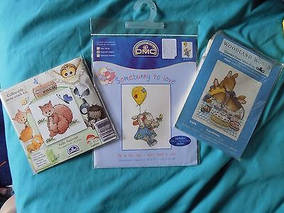 cross stitch kits bundle 1 (new in packets )