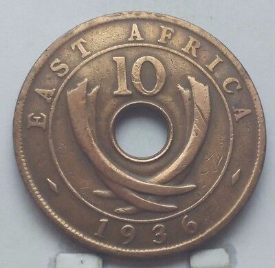 1936 East Africa 10 Cents Coin