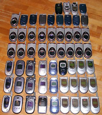 Lot of 58 LG Flip Phones - 13 Models - Free Shipping!