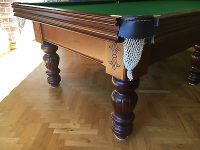 """9' x 4'6"""" B AND B BILLIARDS 'CROWN' POOL SNOOKER TABLE EXCELLENT CONDITION"""