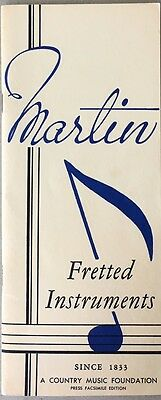 Martin Fretted Instruments 1940 Pamphlet – 1973