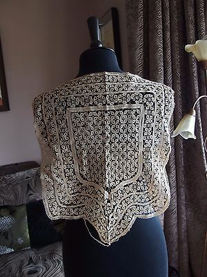 antique handmade lace panel Maltese?