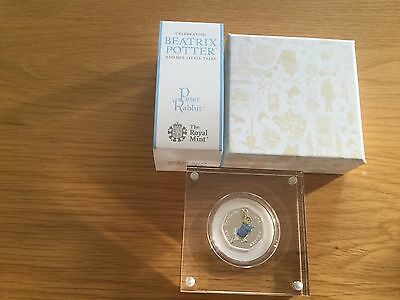BEATRIX POTTER  2017 Peter Rabbit 50p Silver Proof Coin mint condition