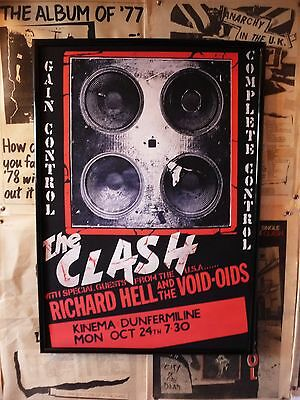 thE CLaSH 1977 COMpLETE CONTRoL TOuR POSTer  PunK rOCk    sex pistols