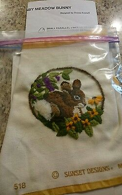 Jiffy Stitchery Baby Meadow Bunny #518 Completed