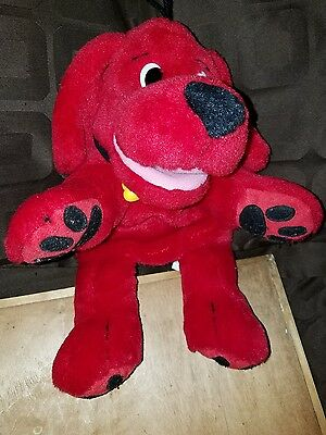 Scholastic Clifford the Big Red Dog talking  Hand Puppet ! Rare