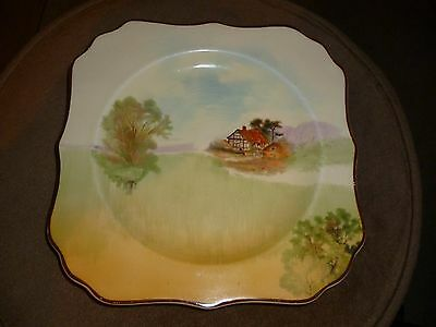 Small vintage Royal Doulton side plate countryside scene pattern 4985