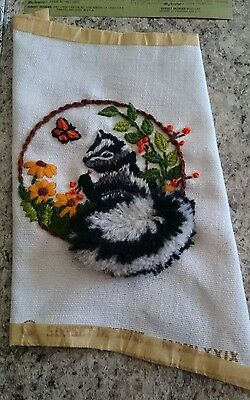 Jiffy Stitchery Baby Meadow Skunk #521 Completed