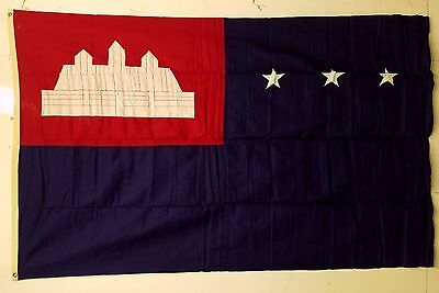 Kingdom of Cambodia Flag of the Khmer Republic - 1970-1975  4x6 feet