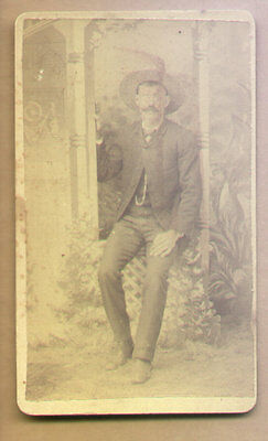 RARE 1880's CDV Photo Of Doc Holliday By Drum and Son Howard, Kas,