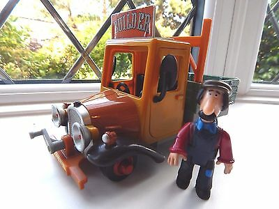 Ted Glen Figure With Musical / Talking Sds Truck From The Postman Pat Series