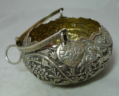 Antique Indian Silver Basket / Bowl 100g A606817