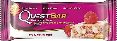 Quest Bar Protein Bar White Chocolate Raspberry Soy Free