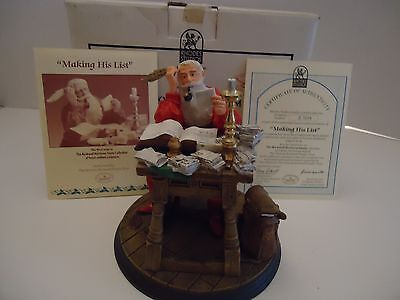 "Rhodes Studio Norman Rockwell Heirloom "" Making His List "" #82393"