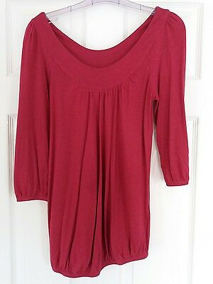 Red New Look maternity top, size 8