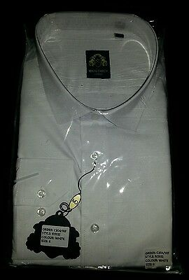 Marc Darcy mens white size 6 rossi shirt with collars