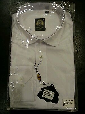 Marc Darcy london mens white size 2 rossi shirt with collars