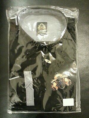 Marc Darcy london mens black size 2 F18 shirt with collars