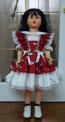"Girl Toddler Size 2T Christmas dress DK Style 35"" Patti Playpal Doll Clothes"