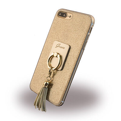 Guess - Girly GUHCP7PRSGO - Silikon Cover - Apple iPhone 7 Plus - Gold