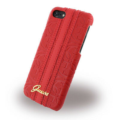 Guess - Heritage GUHCP7SLHERE - Hardcover - Apple iPhone 7 - Rot