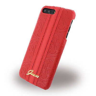 Guess - Heritage GUHCP7SLLHERE - Hardcover - Apple iPhone 7 Plus - Rot