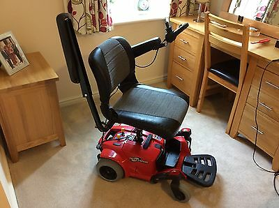 Red Go Chair Mobility Scooter By Pride Excellent Condition With New Batteries