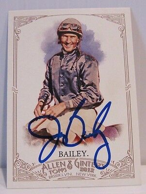2012 Topps Allen And Ginter's Jerry Bailey Autographed #81