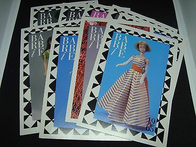 VINTAGE BARBIE Fashion Postcards. A Must See!