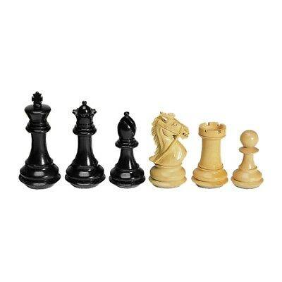 Chess figures - Ebony and Boxwood - Kings height 102mm