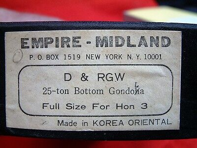 D&RGW 25 TON DROP BOTTOM GON. HOn3 . EMPIRE-MIDLAND BRASS, NEW CONDITION. NICE
