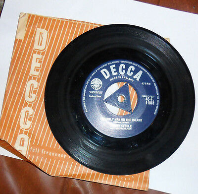 "Tommy Steele 7"" vinyl single record = The Only Man On The Island UK 45-F.11041"