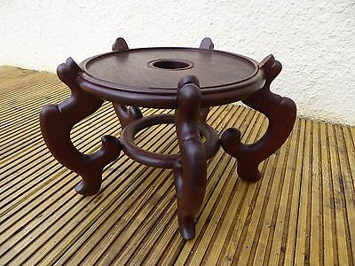 Large Vintage Chinese Wooden Stand with cushion