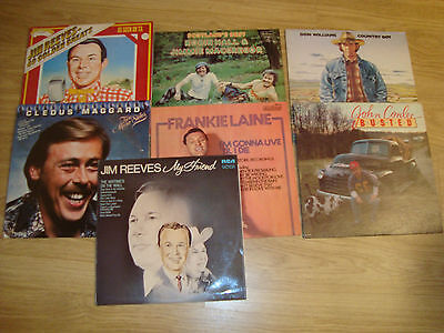 "lot of 8LP 12"" Vinyl - COUNTRY"