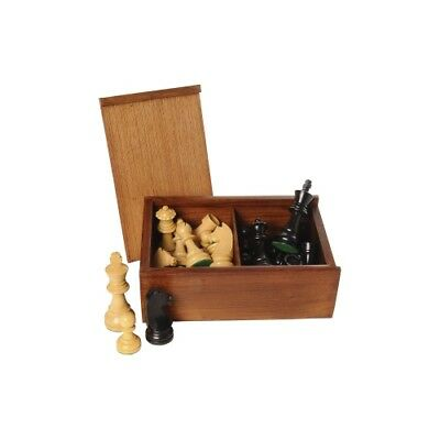 Chess Pieces Black Natural King's Height 95 mm
