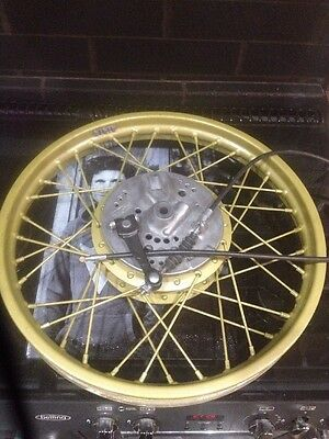 Suzuki sb200 complete front wheel spindle brake plate new cable modified