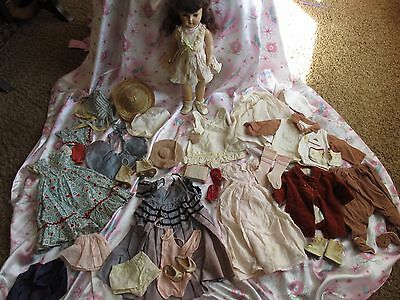 """Vtg Ideal 19"""" Toni Doll 1950's...loads Of Very Old Clothes....very Cool"""