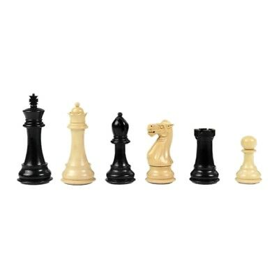 Chess figures - Staunton - black varnished - Kings height 95 mm