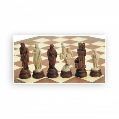 Chess figures - carved - Maple - Kings height 115mm